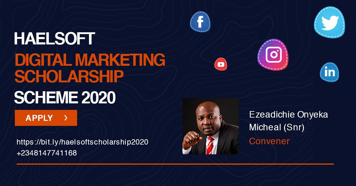 Haelsoft Digital Marketing Scholarship 2020